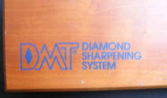 A close-up of the case for DMT, Diamond Sharpening System.