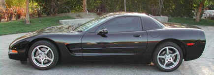 C5 Corvette side view.