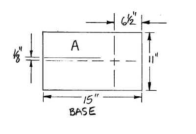 Engineering drawing for base of spinning jig.