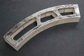 Photograph of one of the finished sides of the wheel arch plane.